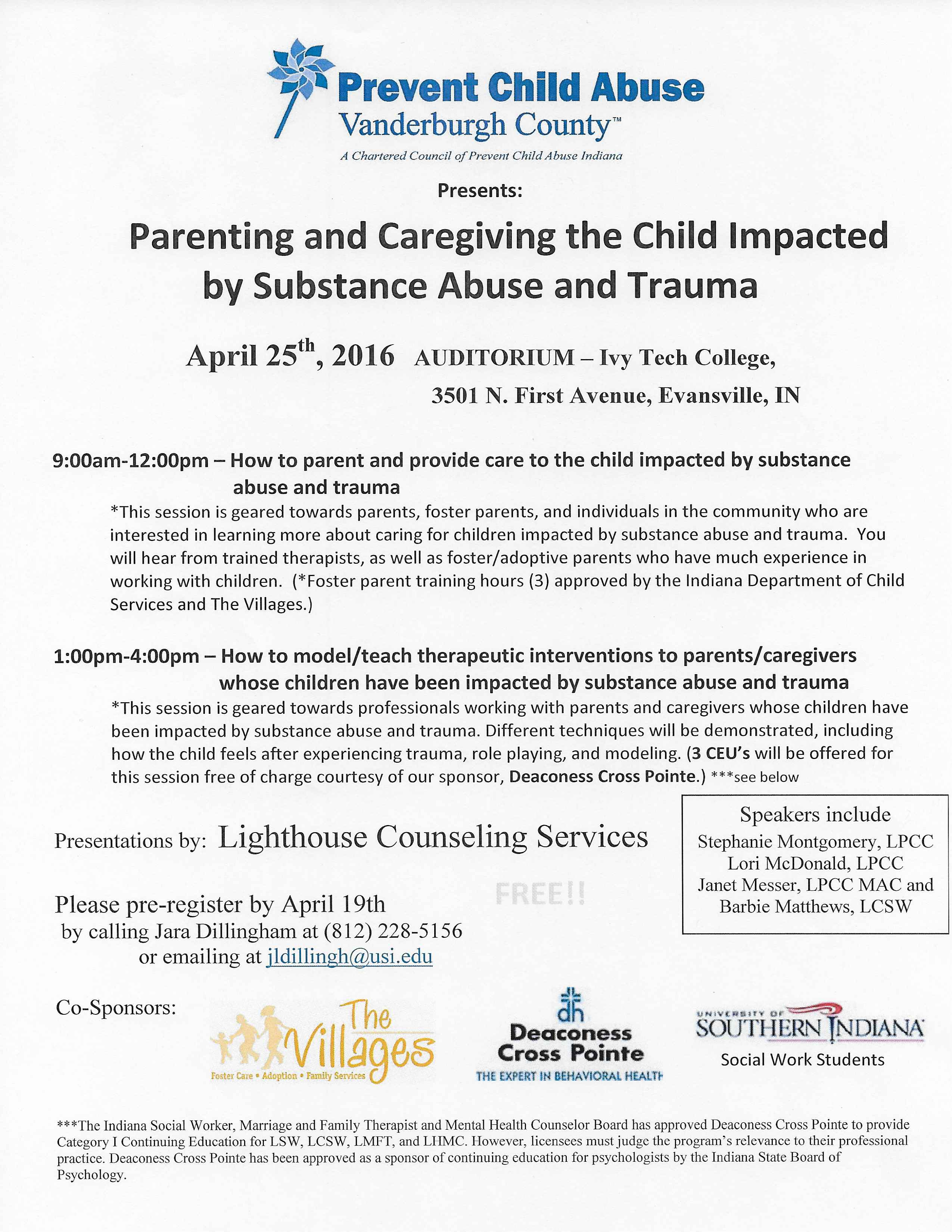 Preventing and Caregiving the Child Impacted by Substance Abuse and Trauma